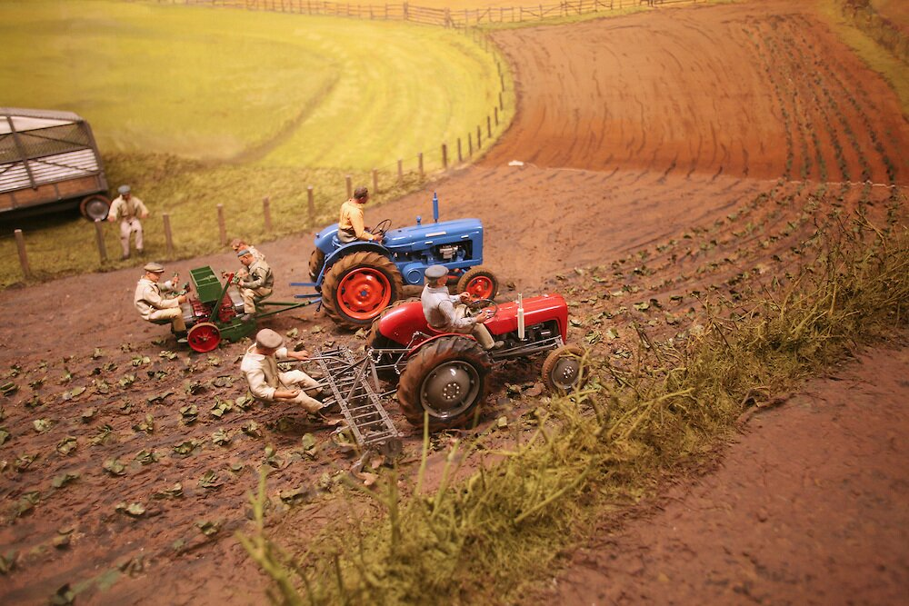 Agricultural diorama, Science Museum, London, England, UK